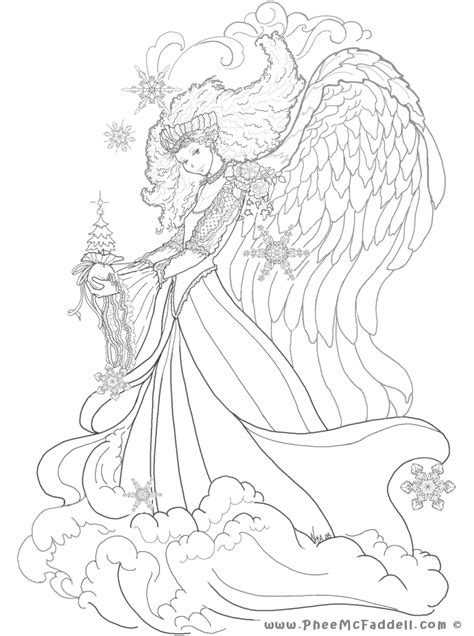 realistic angel coloring pages fairy coloring pages for adults coloring home