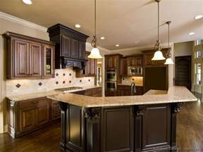 Dark Wood Kitchen Ideas Pictures Of Kitchens Traditional Medium Wood Cabinets