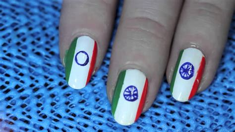 nail art tutorial in hindi indian flag nail art tutorial youtube