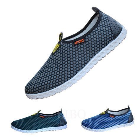 athletic slip on shoes breathable mesh loafers sneaker slip on casual