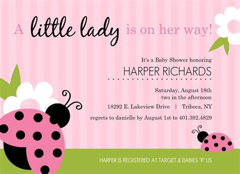 pink baby shower invitations template best template