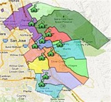 san jose school district map east side union high school district school boundaries