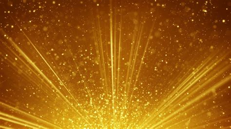 Golden Light Rays And Particles Loopable Background Motion Gold Lights