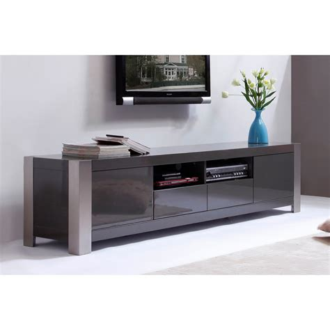 b modern composer 79 quot high gloss gray tv stand bm 100 gry the simple stores