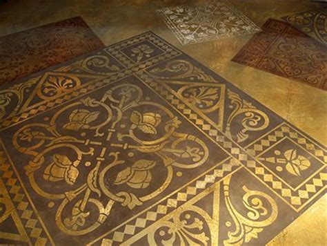 Decorative Floor Painting Ideas 17 Best Images About Stenciled Concrete On Concrete Patios Workshop And Stencils