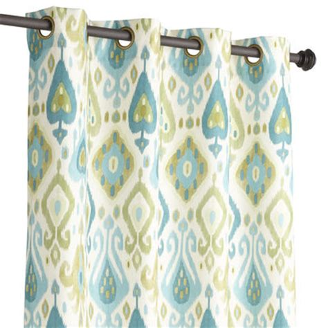 Turquoise Ikat Curtains Blue Green Ikat Curtain Everything Turquoise