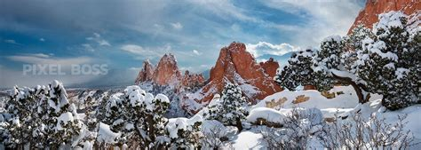 Garden Of Colorado Garden Of The Gods Snow Ruby Blue Pixel