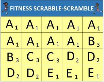 pe scrabble 270 best images about physical ed on physical