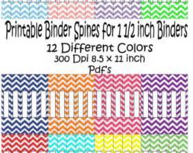 half inch binder spine template handmade 1 inch binder etsy