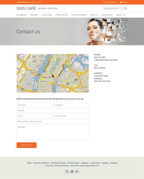 Skin Care Product Website Design 001 Skin Care Html Website Template Preview Product Selling Website Template