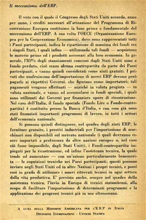 cambio dollaro oggi d italia piano marshall in italia e in europa