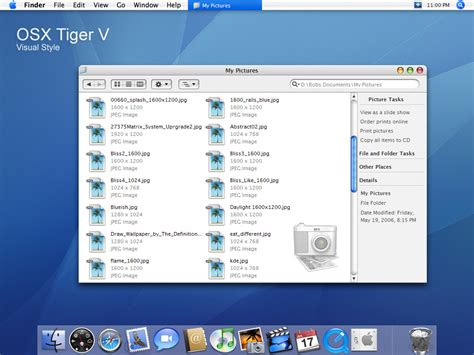 tiger themes for windows 7 free download osx tiger visual style theme for windows7