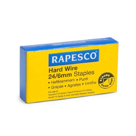 5 000 x rapesco 24 6mm staples wire galvanised