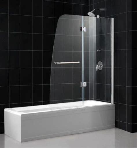 Curved Shower Screens For Corner Baths dreamline shdr 3148586 01 aqua tub shower door clear glass