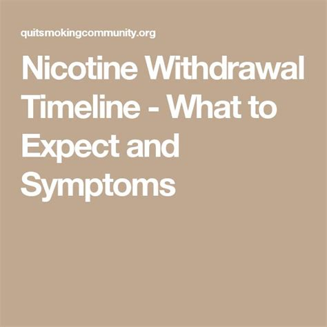 All Nicotine Detox by Nicotine Withdrawal Timeline What To Expect And Symptoms
