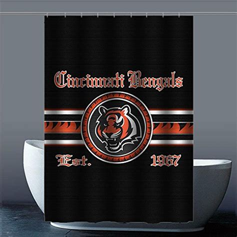 cincinnati bengals shower curtain bengals curtains cincinnati bengals curtain bengals