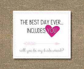 Bridesmaid Asking Cards Best Day Ever Includes You How To Ask Bridesmaid Will