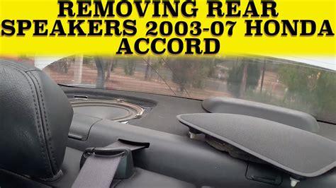 service manual remove rear speakers from a 2005 honda accord 2003 honda civic lx sedan rear