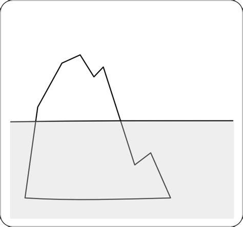 clipart iceberg clip at clker vector clip