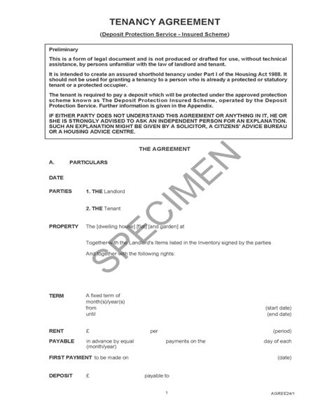tenant agreement form  main group