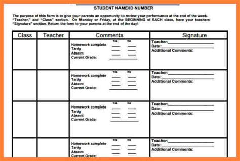 sunday school report card template 6 middle school progress report template progress report