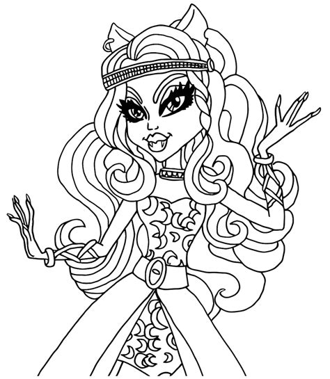 catty noir coloring pages