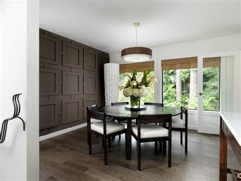 ideas for dining room walls accent wall panel dining room contemporary with geometric surface brown wall