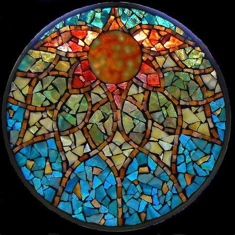 mosaic mandala pattern stained glass mosaic mandalas crafts pinterest