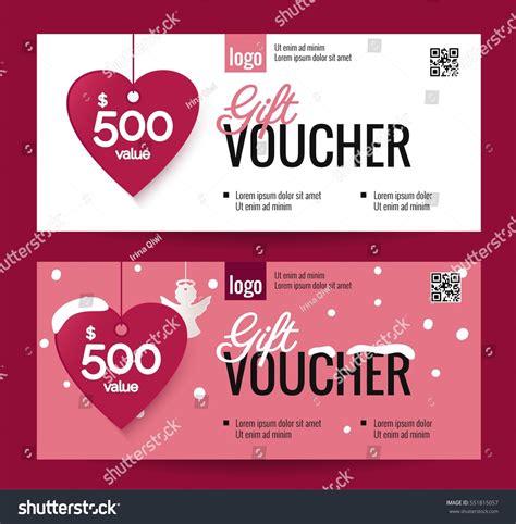 discount holiday vouchers gift voucher coupon discount happy valentines stock vector