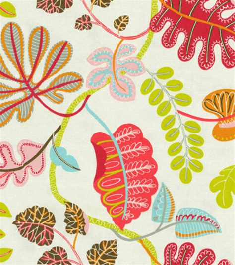 home decor print fabric waverly a new leaf flamingo at