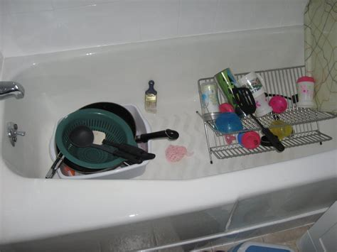 washing dishes in bathtub the kitchen the last demo the kim six fix