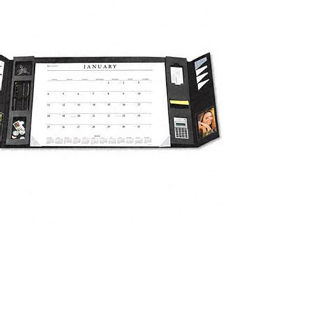 Desk Calendar Holder by At A Glance Executive Monthly Desk Blotter In Leather