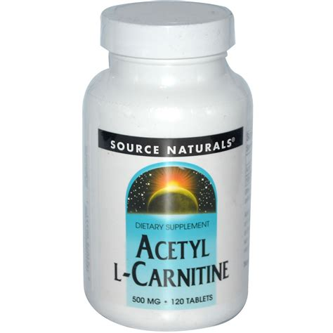 The Carnitine Defense source naturals acetyl l carnitine 500 mg 120 tablets iherb