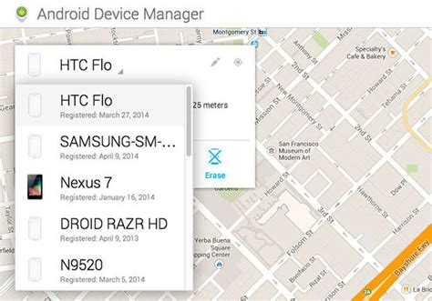 how to find your lost phone or tablet with android device manager greenbot - Android Device Manager History