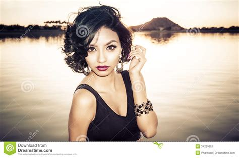 young exotic beauties beautiful young exotic woman stock image image 34259351