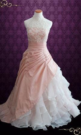 Other Halter Blush Pink Ball Gown Wedding Dress with Org