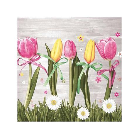 Collagen La Tulipe by 4 Serviettes En Papier D 233 Coupage Collage 33 Cm Tulipe