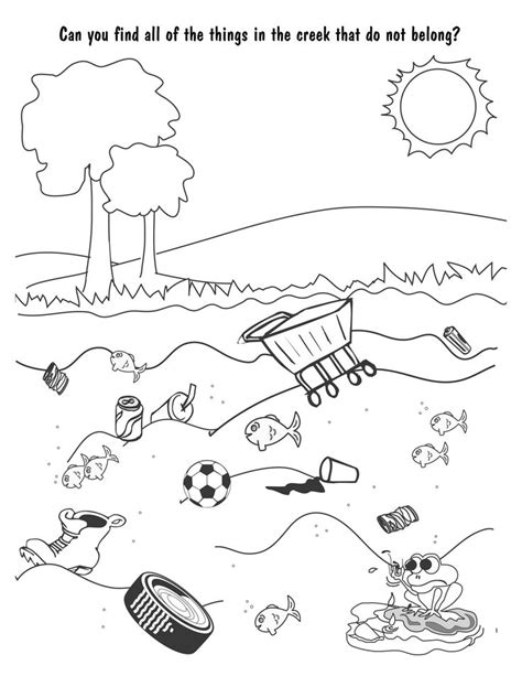 coloring pages water pollution land pollution drawing for kids www pixshark com