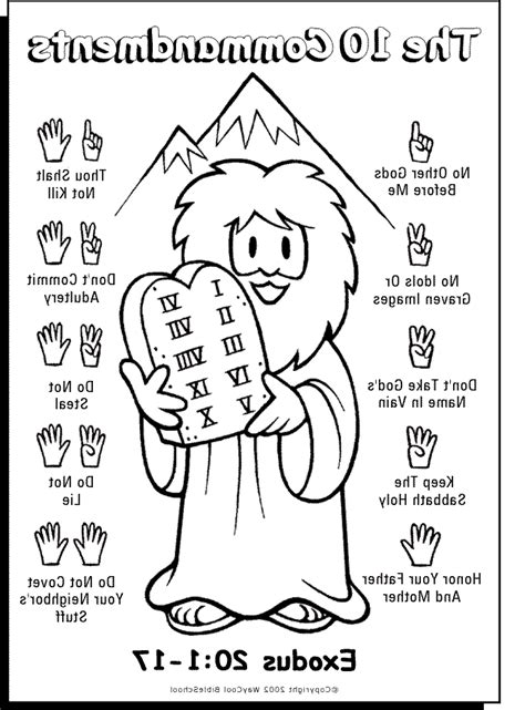 10 Commandments Coloring Page Printable Coloring Pages Coloring Pages 10 Commandments