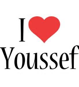 youssef logo name logo generator i love love heart