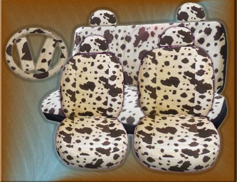 cowhide seat covers cow print car seat covers car seat covers cow print car