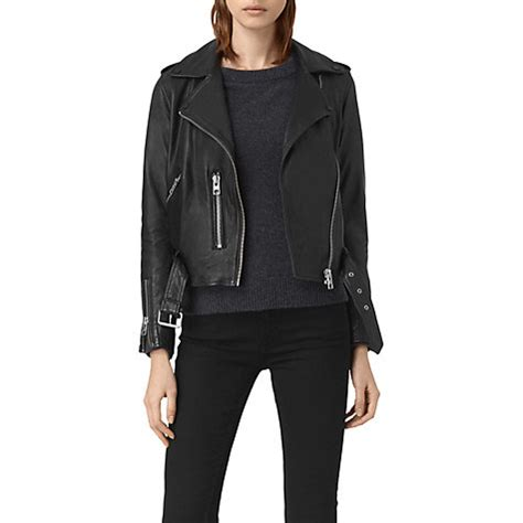 Allsaints Balfern Biker Jacket allsaints leather balfern biker jacket wholesale black