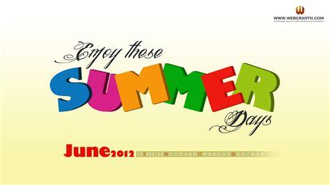 june calendar wallpaper 2012 free summer hd