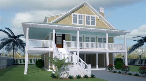 country home with wrap around porch plan 15056nc low country home with wraparound porch