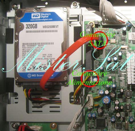 formattare disk interno azbox hd premium installare l disk interno