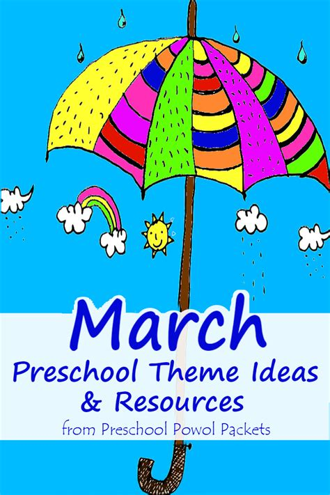 kindergarten themes march march preschool themes preschool powol packets