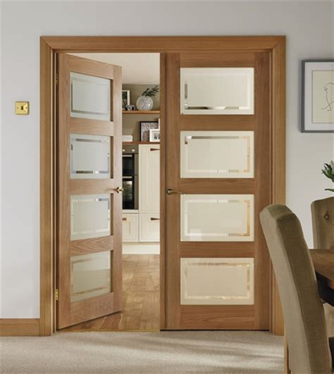 glazed panel interior doors 4 panel oak shaker glazed door hardwood doors