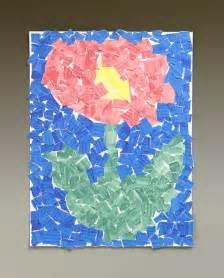 Paper Tearing Craft - paper petals craft crayola