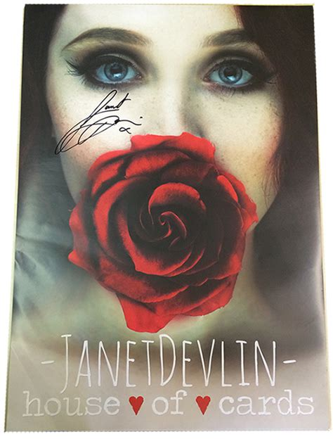 house of cards poster janet devlin signed house of cards poster limited edit