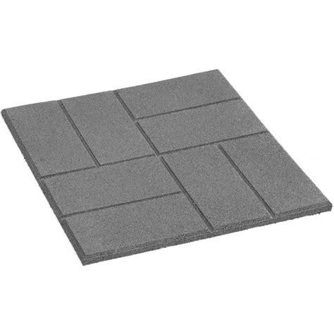 Square Rubber Patio Slab Rona Rubber Patio Stones